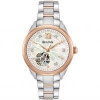 Damen Bulova Automatik Diamant Uhr