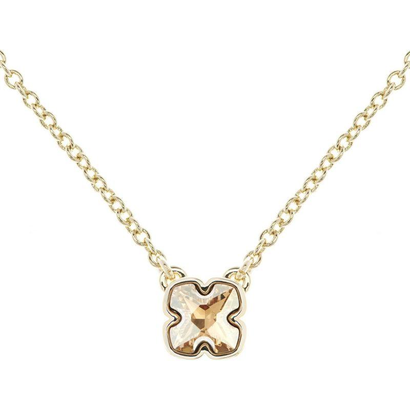 Ladies Karen Millen Gold Plated Art Glass Flower Necklace KMJ923-30-96