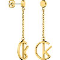 Damen Calvin Klein vergoldet League Ohrringe