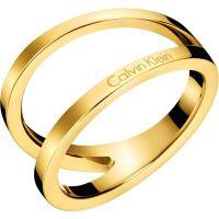 Damen Calvin Klein vergoldet Outline Ring Größe O