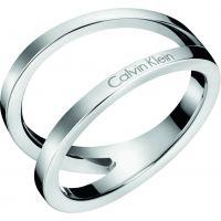 Damen Calvin Klein Edelstahl Outline Ring Größe P