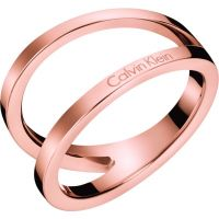Ladies Calvin Klein Rose Gold Plated Size N Outline Ring
