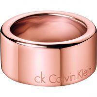 Damen Calvin Klein Rose vergoldet Hook Ring Größe L.5