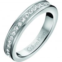 Ladies Calvin Klein Stainless Steel Size P Hook Ring