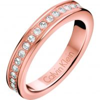 Calvin Klein Dames Hook Ring Size L.5 Verguld Rose Goud KJ06PR140106