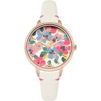 Damen Cath Kidston Painted Pansies Watch CKL031W