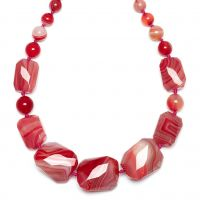 femme Lola Rose Jewellery Baltazar Scarlet Agate Necklace Watch 618793