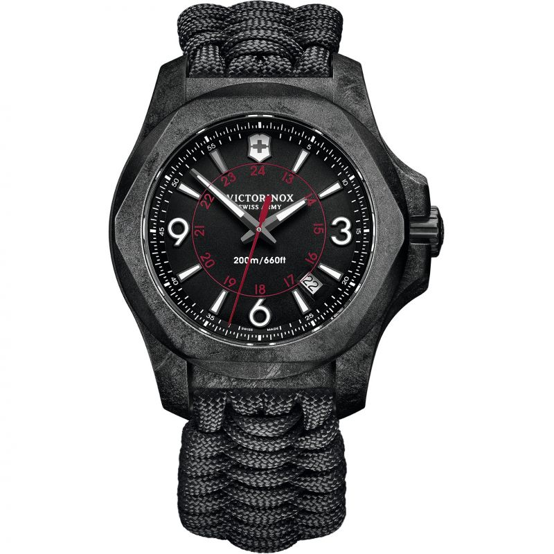 Mens Victorinox Swiss Army INOX Carbon Paracord Watch