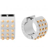 Ladies Michael Kors Two-tone steel/gold plate Micro Muse Huggie Earrings