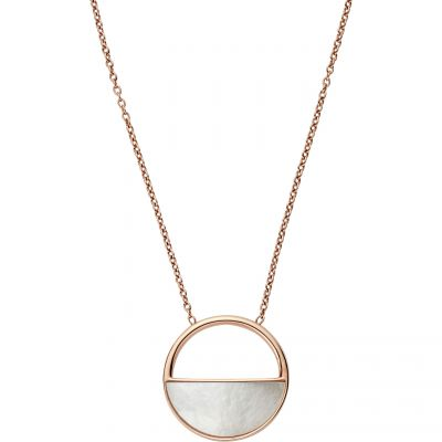 Ladies Skagen Rose Gold Plated Elin Mother Of Pearl Necklace SKJ0997791