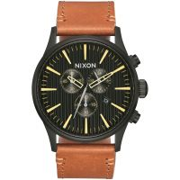 Herren Nixon The Sentry Chrono Leder Chronograf Uhr