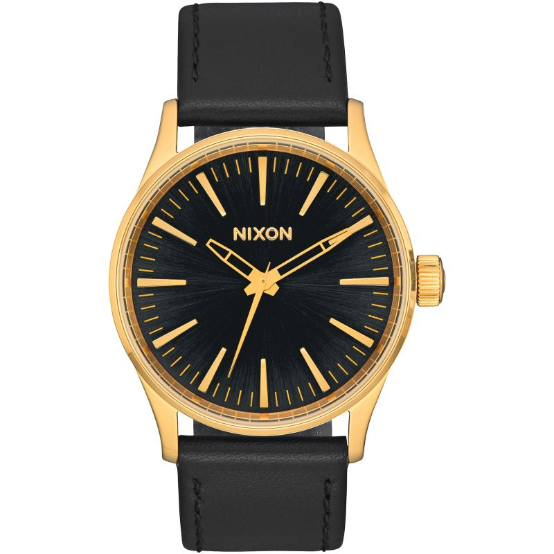 Unisex Nixon The Sentry 38 Leather Watch