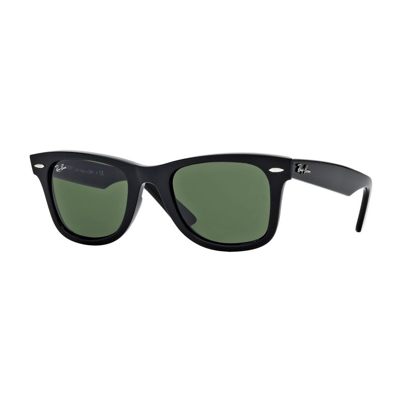 Ray-Ban Black/Green Classic G15 Polarised Original Wayfarer Classic Sunglasses RB2140-901-54
