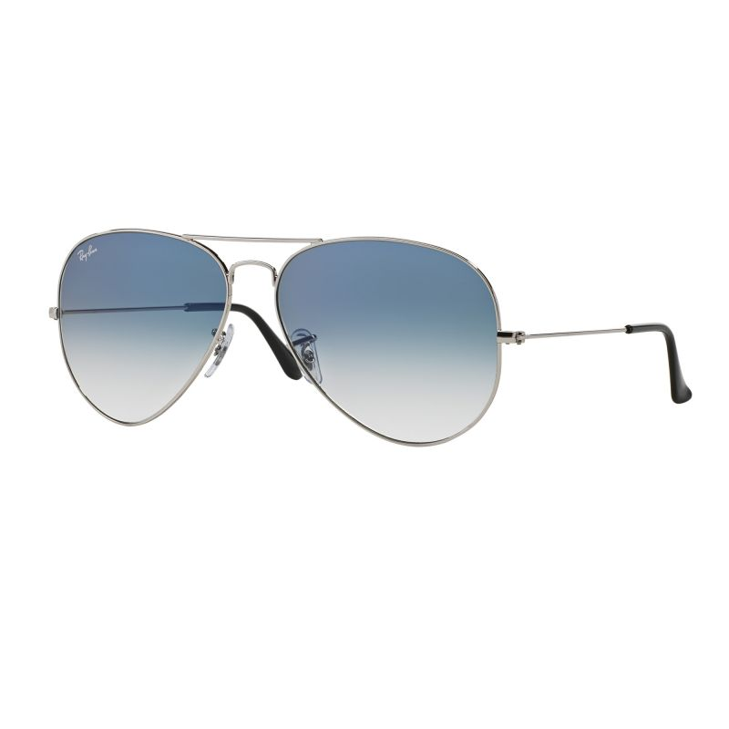 Mens Ray-Ban Aviator Gradient Sunglasses RB3025-003/3F-58