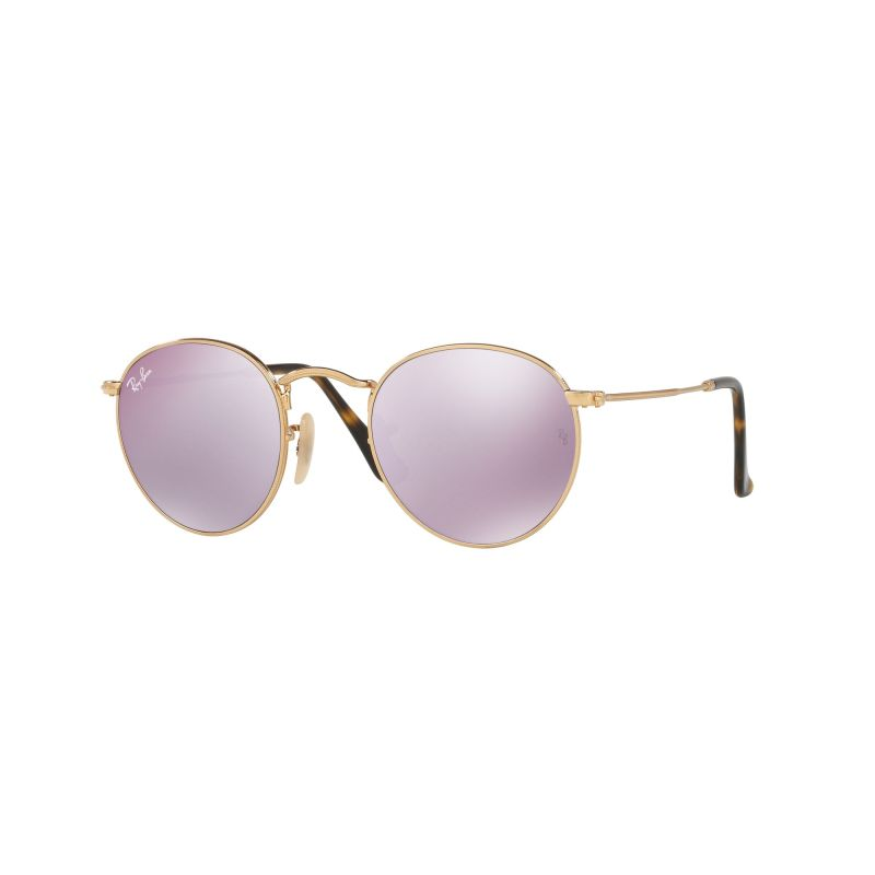 Mens Ray-Ban Round Flat Lens Sunglasses RB3447N-001/8O-47