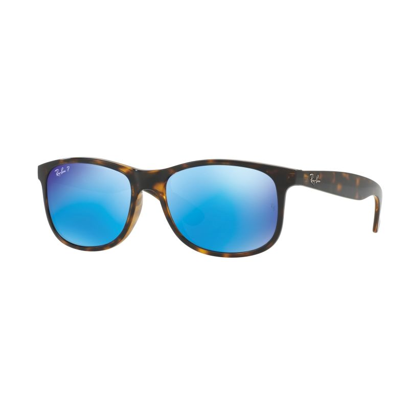 Mens Ray-Ban Tortoise/Blue Flash Andy Polarized Sunglasses RB4202-710/9R-55