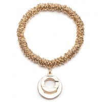 Ladies Anne Klein Gold Plated Stretch Hoop Charm Bracelet