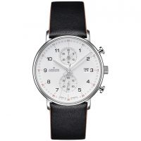 Herren Junghans FORM C Chronoscope Chronograph Watch 041/4771.00