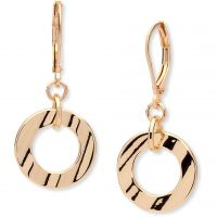 Ladies Anne Klein Gold Plated Hoop Earrings