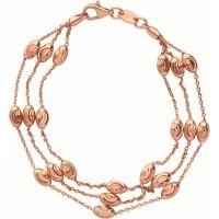 Damen Verbindungen Of London Sterlingsilber Essentials perlenbesetzt 3 Row Armband mittelgroß