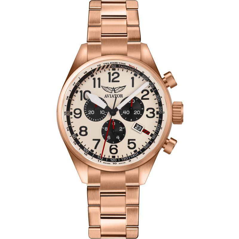 Mens Aviator Airacobra Chronograph Watch