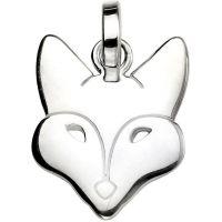 Damen Elemente Sterlingsilber Fuchs Halskette
