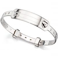 D For Diamond Kinderen ID Expander Bangle Sterling Zilver B4875