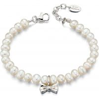 D For Diamond Kinderen & Cultured Pearl Bracelet Sterling Zilver B4890
