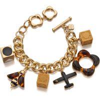 femme Orla Kiely Jewellery Charm Bracelet Watch B4860