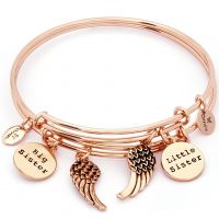 Damen Chrysalis PVD Rosa plating TWO OF A KIND SISTERS EXPANDABLE BANGLE
