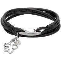 Damen Unique Edelstahl & Leder Armband