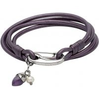 Ladies Unique & Co Stainless Steel & Leather Bracelet