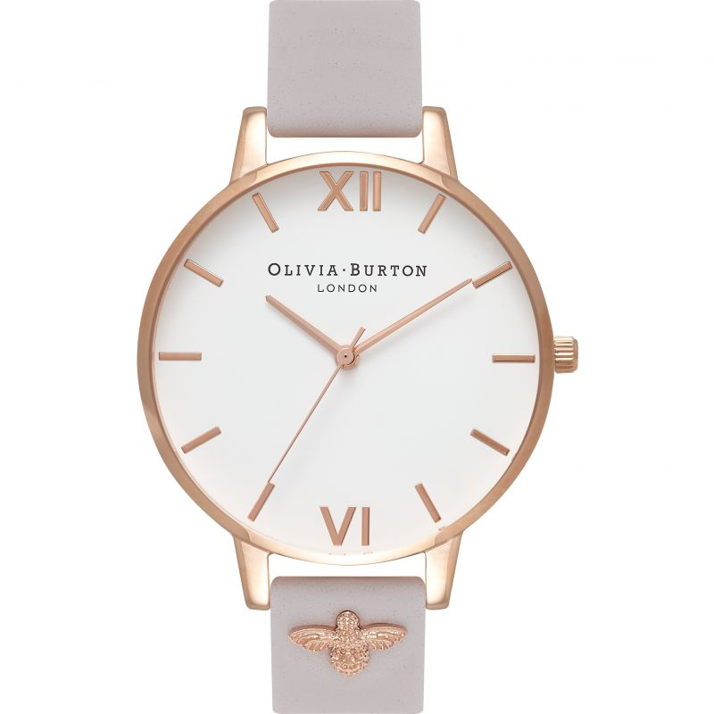 Embroidered Dial Rose Gold & Blush Watch