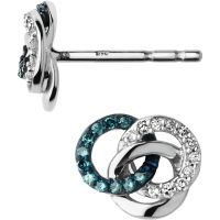 Ladies Links Of London Sterling Silver Treasured Diamond Stud Earrings