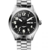 Mens Ball Engineer III Silver Star Naval Aviator Automatic Watch