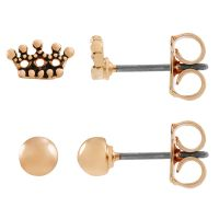 Ladies Juicy Couture Base metal Crown Expressions Stud Earring Set WJW62490-690-U