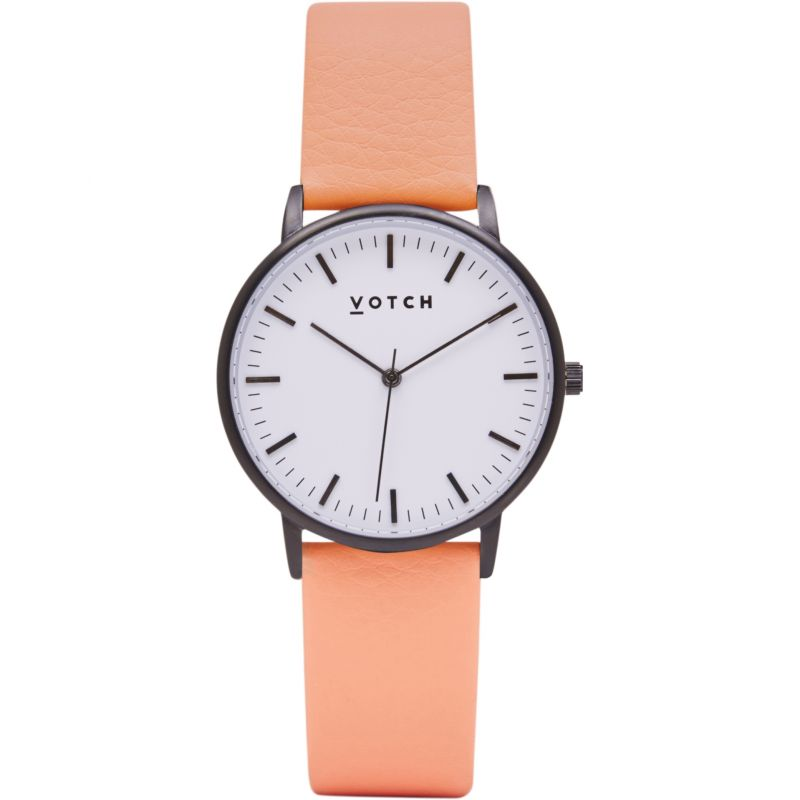 Ladies Votch The Black And White And Coral 36mm Watch