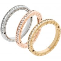 Ladies Michael Kors Multi colour gold Size J Iconic Ring