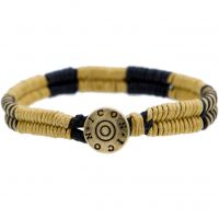 Mens Icon Brand Base metal Cord Bracelet