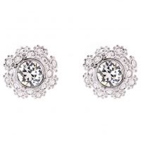 femme Ted Baker Jewellery Seraa Crystal Daisy Lace Stud Earring Watch TBJ1584-01-02