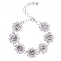 femme Ted Baker Jewellery Seah Crystal Daisy Lace Bracelet Watch TBJ1581-01-02