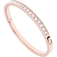 Ladies Ted Baker Rose Gold Plated Clemara Hinge Crystal Bangle