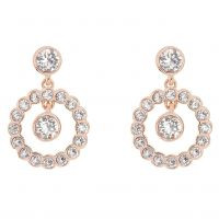 Ladies Ted Baker Rose Gold Plated Corali Concentric Crystal Earring TBJ1333-24-02