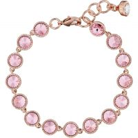 Ted Baker Dames Raalyn Rivoli Crystal Single Strand Bracelet Verguld Rose Goud TBJ1292-24-70