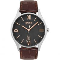 Hugo Boss Governor Herenhorloge Bruin 1513484