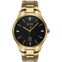 Hugo Boss Governor Herenhorloge Goud 1513521