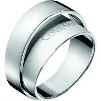 Ladies Calvin Klein Stainless Steel Size N Unite Ring Size N.5