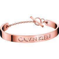 Damen Calvin Klein Rose vergoldet Message Armreif