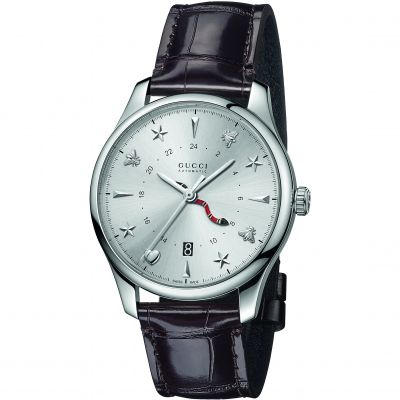 Gucci G-Timeless GMT Unisexuhr in Braun YA126332