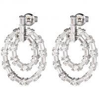 femme Folli Follie Jewellery Fashionably Silver Stud Earrings Watch 5040.2875